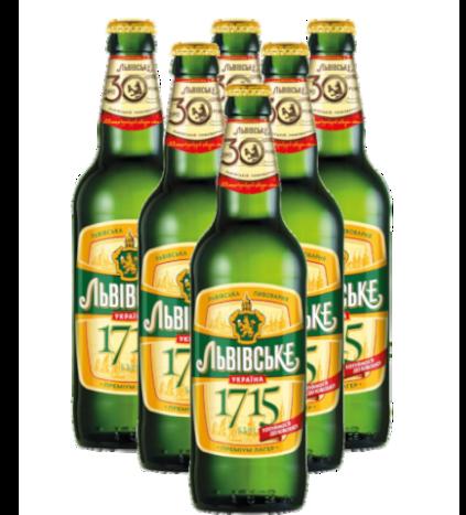 """пиво львовское """"1715"""""""